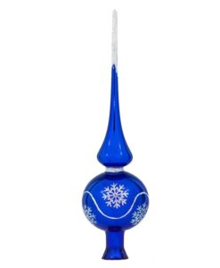 Blue Christmas Tree Topper Altair | Glass Christmas Ornaments