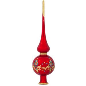 Red Christmas Tree Topper, Ariadne | Glass Christmas Ornaments