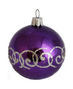 Glass Christmas Ball Corall - Glass Christmas Ornaments