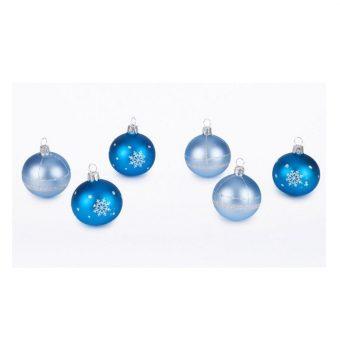 Crystal set of christmas ornaments. Set of 6 Christmas balls