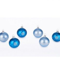 Crystal set of christmas ornaments. Set of 6 Christmas balls