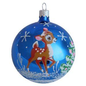 Fawn Glass Cristmas Ball - Glass Christmas Ornaments