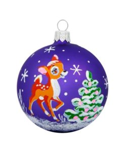 Fawn Glass Cristmas Ball - Glass Christmas Ornaments