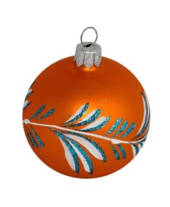 Orange Christmas Ball - Glass Christmas Baubles and Christmas Tree Decorations