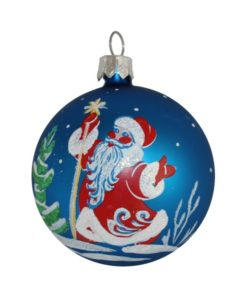 Santa Christmas Ball - Glass Christmas Baubles and Christmas Tree Decorations