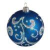 Shine Blue Glass Christmas Ball - Glass Christmas Ornaments