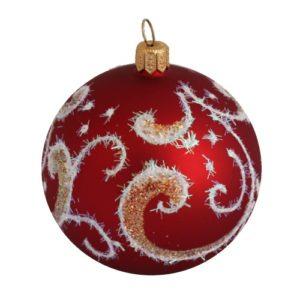 Shine Red Glass Christmas Ball - Glass Christmas Ornaments