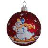Skier Red, Glass Christmas Ball, Glass Christmas Ornaments