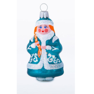 glass Christmas figurine Snow Maiden