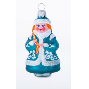 glass Christmas figurine Snow Maiden