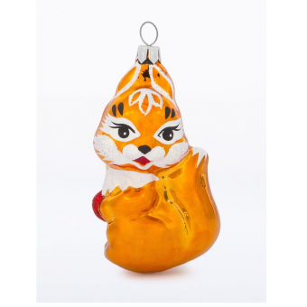 Glass Christmas figurine Squirrel