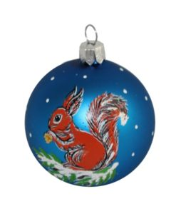 Squirell Christmas Ball - Glass Christmas Baubles and Christmas Tree Decorations