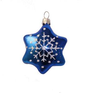 glass chrismas figurine star