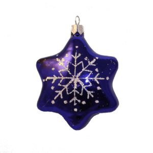 glass christmas figurine star