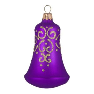 Veil, glass hand-painted Christmas figurine bell