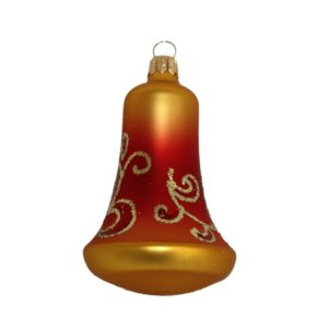 glass christmas bell gold