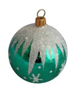 Winter Christmas Ball, Green - Glass Christmas Ornaments