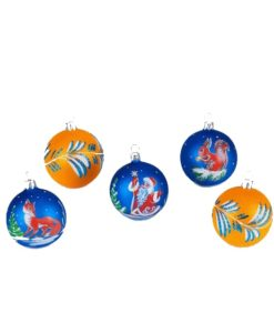 Winter Songs, Set of Glass Christmas Balls