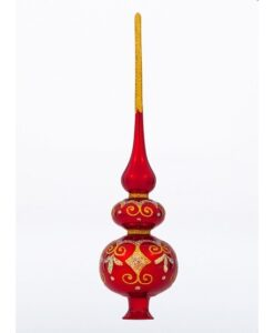 Glass Tree Toppers Charm - European Xmas Ornaments and Decorations