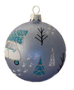 car with christmas tree glass christmas balls - Glass Christmas Balls