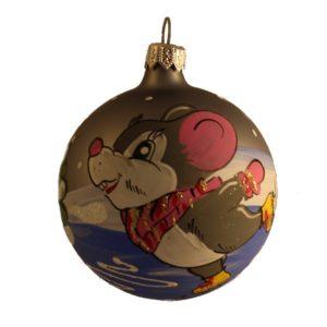 Mouse - Glass Christmas Balls