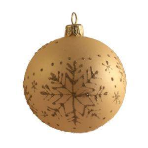 Snowflakes - Glass Christmas Balls
