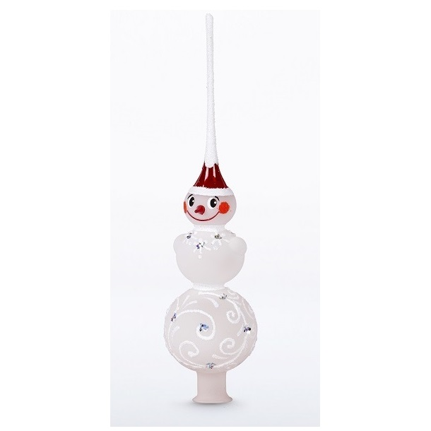 Snowman Christmas Tree Topper | Glass Christmas Ornaments