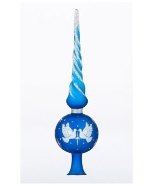 Tree Toppers Tender Blue - Glass Christmas Ornaments and Decorations