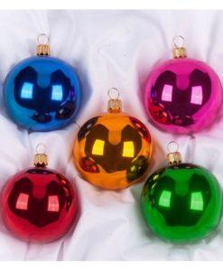 Carol set of christmas ornaments, glass christmas ornaments