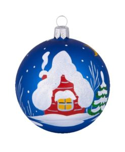 Evening Glass Christmas Ball - Glass Christmas Ornaments and Tree Decorations