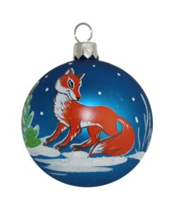 Fox Christmas Ball - Glass Christmas Baubles and Christmas Tree Decorations