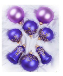 set of christmas ornaments balls bells