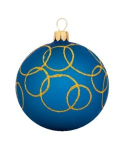 Oreol Glass Christmas Ball - Glass Christmas Ornaments and Tree Decorations