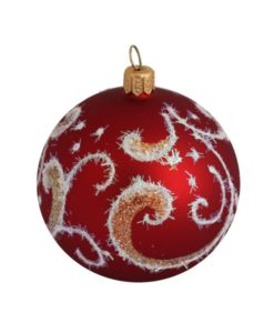 Shine Red Glass Christmas Ball - Glass Christmas Ornaments