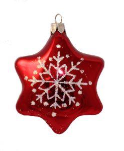glas chistmas figurine star