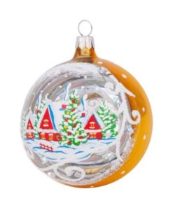 Winter-2 Glass Christmas Ball - Glass Christmas Ornaments and Tree Decorations