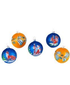 Winter Songs, Set of Glass Christmas Balls