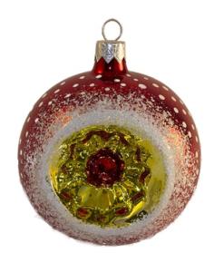 Glass Christmas Ornaments - Vintage Christmas Ball Ornament, Red